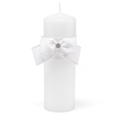 NEW Rose Pink Unity Candle Wrap Pearl /& Rhinestone Wedding Unity Candle Wrap